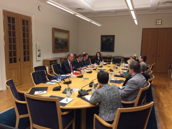 Members of the Committee on Economy, Finance and Budget visit the Parliament of the Kingdom of Sweden