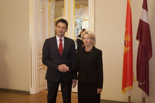 President of the Parliament of Montenegro hosted by the Parliament of Latvia