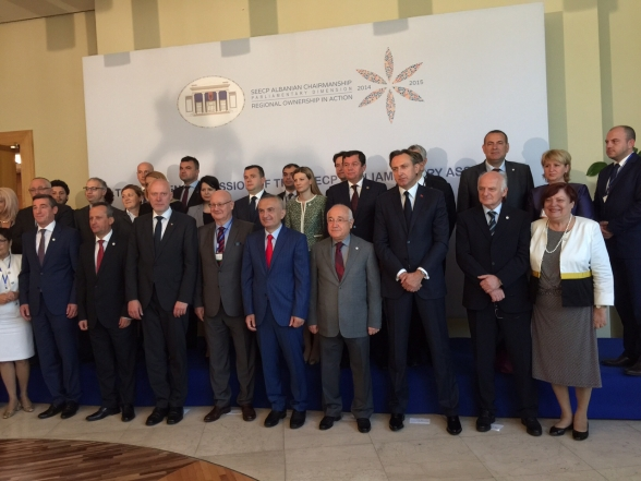 President of Parliament Mr Ranko Krivokapić participates in Conference of speakers of SEECP region parliaments in Tirana