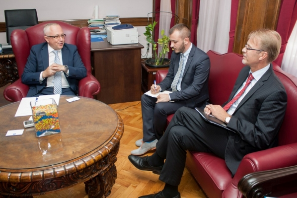 Vice President Mustafić receives newly-appointed Head of the European Union Delegation to Montenegro Mr Aivo Orav