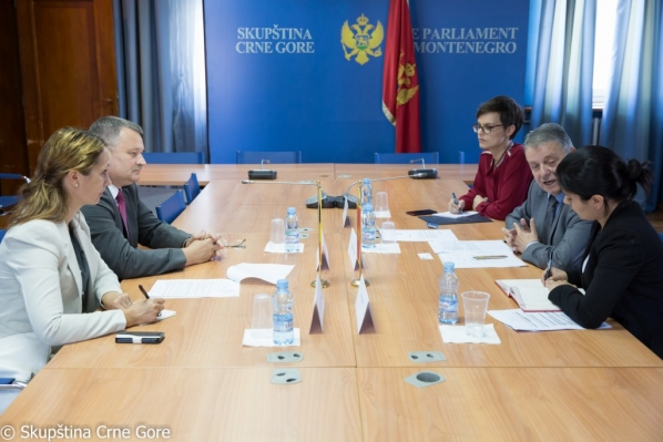 MP Mr Branko Čavor holds a meeting with the Ambassador of Romania to Montenegro