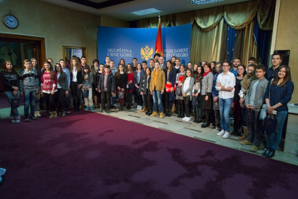 President of the Parliament of Montenegro opens the VII session of Children's Parliament