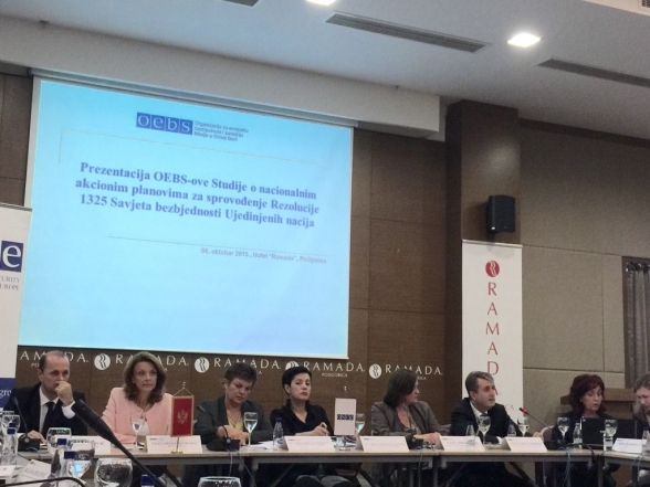 Presentation of the OSCE study on National Action Plans for the implementation of UN Security Council Resolution 1325