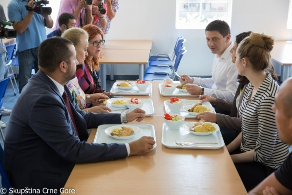 President of the Parliament of Montenegro Mr Darko Pajović has lunch in the National Kitchen