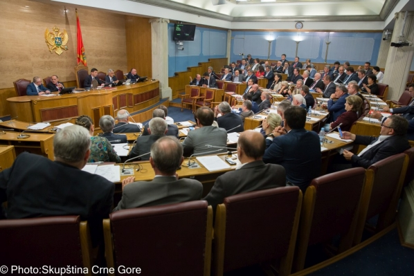 Sittings of the Sixth, Eighth and Ninth Extraordinary Session of the Parliament of Montenegro in 2016 end