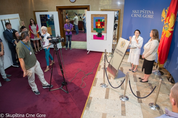"Exhibition ""The thread is a trail"" by authoress MP Ms Jelisava Kalezić opened"
